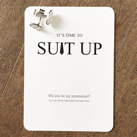 We Designed These Suitup Groomsmen Proposal Cards For A Special Lady Her Fianc 233 We Hope Free Will You Be My Groomsman Template