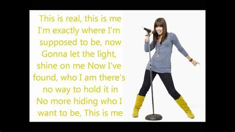 demi lovato lyrics this is me this is me demi lovato joe jonas lyrics youtube