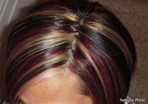 black hair with redish highlights 2014 dark red hair color highlights medium hair styles ideas