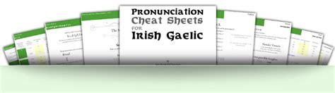 pronunciation bites pronunciation integration 3 word worksheets launched for pronouncing irish gaelic