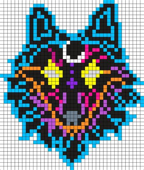 perler patterns galaxy wolf perler bead pattern bead sprites animals