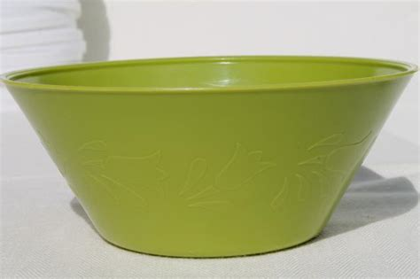 Decorative Canisters Kitchen by Vintage Plastic Margarine Tubs Bowls In Bright Primary