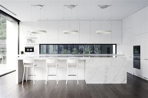 White Kitchen by 30 Modern White Kitchens That Exemplify Refinement