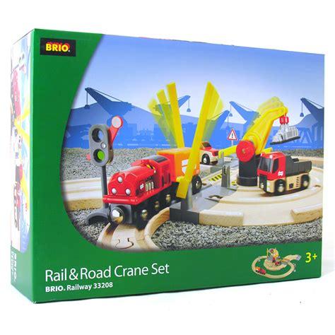 brio road and rail rail road crane set from brio wwsm