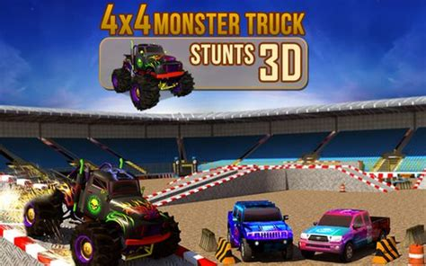 3d monster truck stunt racing android world 4x4 monster truck stunts 3d