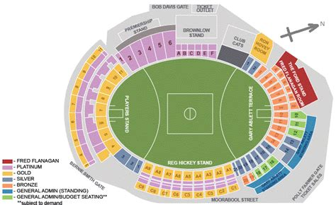 what is the seating capacity of the mcg the best seat for footy kardinia park simonds