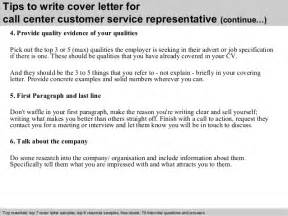 Call Center Technical Support Cover Letter by Call Center Customer Service Representative Cover Letter