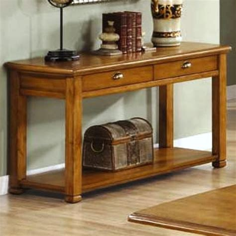 sofa table barnwood leg sofa table with