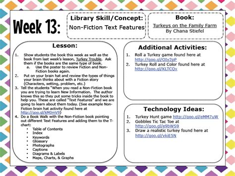 library lesson plans for primary school elementary