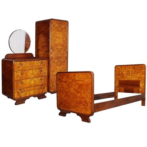 art deco bedroom set art dec 242 bedroom set by osvaldo borsani birch and walnut