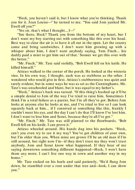to kill a mockingbird theme quotes with page numbers for to kill a mockingbird quotes chapter 17 quotesgram