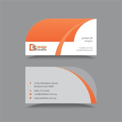 id card design orange creative orange business card design free vectors ui