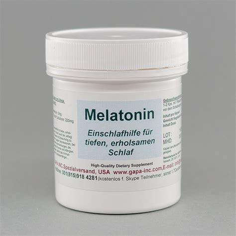 melatonin schlaf melatonin gapa s spezialversand
