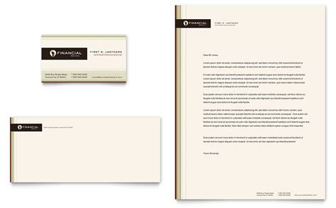 Department Of Finance Letterhead Financial Planner Business Card Letterhead Template Word Publisher