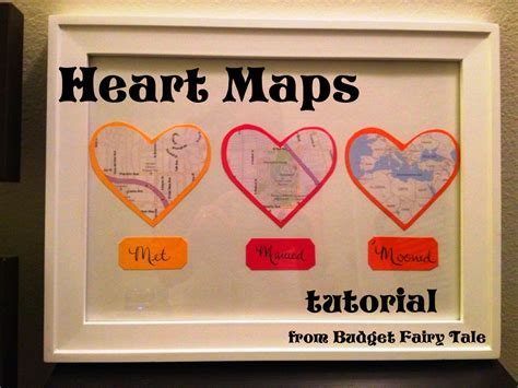 First Anniversary Gift   Map Hearts Display Tutorial (and