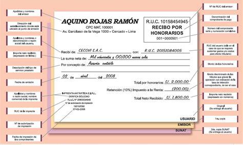 retencion del recibo por honorario 2016 recibo por honorarios comprobantes de pago