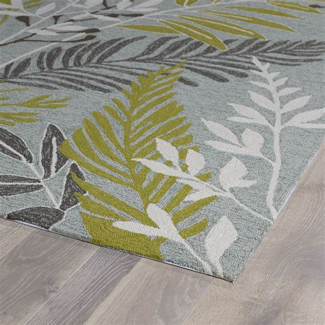 Grey And Green Area Rug Kaleen Home And Porch Wasabi Green Grey Indoor Outdoor Area Rug Reviews Wayfair