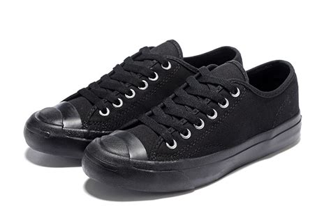 all converse all black purcell low canvas shoes