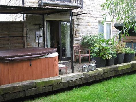 hot tub awnings hot tub with wooden awning picture of the tempest arms elslack tripadvisor