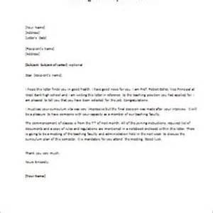 Acceptance Letter For Teaching Position Formal Official And Professional Letter Templates Part 2