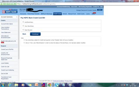 make hdfc credit card payment hdfc credit card bill payment bill payment www