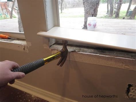 Bay Window Sill Replacement How To Replace Windowsill Plus Beautiful Diy Craftsman