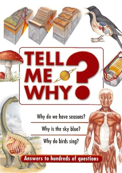 tell me what you want books tell me why by chancellor press reviews discussion