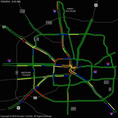 houston transtar map houston transtar real time traffic map my