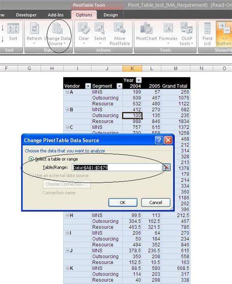 excel 2007 pivottable excel 2007 vba pivot table macro