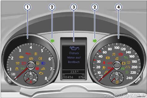 Kontrollleuchten Auto Vw Golf 6 by Kombiinstrument 5k Kontrollleuchten Beim Golf 6 Vw