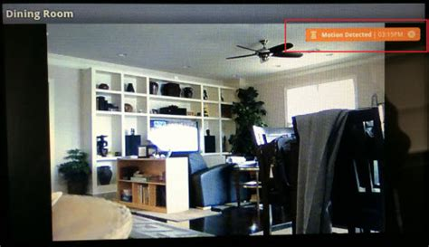 viewing motion detection capability with cox homelife cameras
