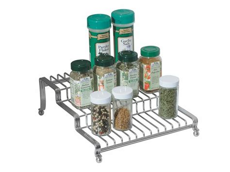 Silver Spice Rack Interdesign York Lyra Silver Spice Rack