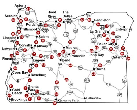 map of hwy 395 oregon odot trip check cameras about
