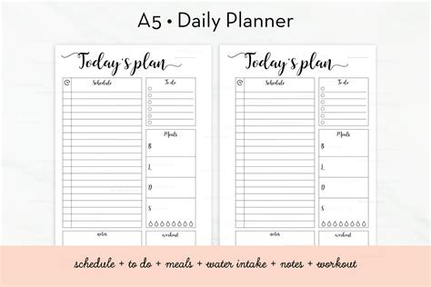 free printable daily planner a5 daily planner printable daily schedule a5 inserts to do