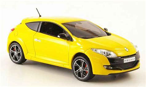 renault yellow renault megane sport yellow 2009 norev diecast model car 1