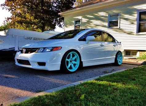 teal car white rims 17 best images about cars on pinterest honda cars and