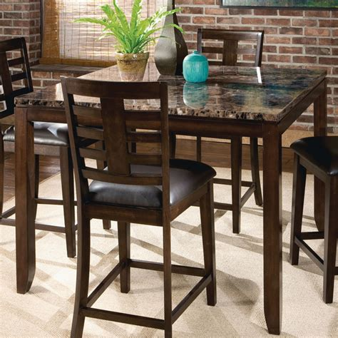 standard furniture square counter height table w