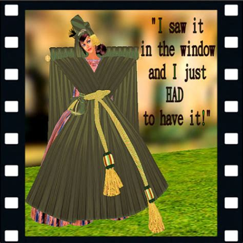 carol burnett curtain rod dress second life marketplace skye qi s gwtw drapery dress parody