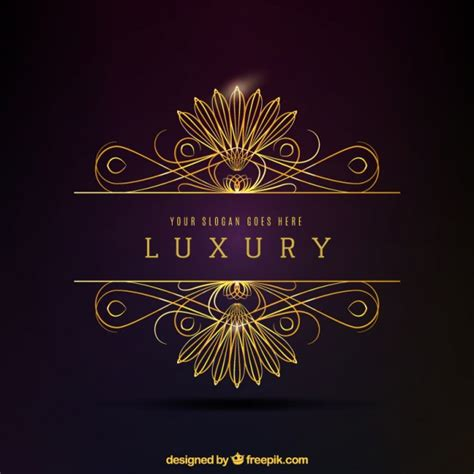 logo design luxury luxury golden decorative logo vector premium download