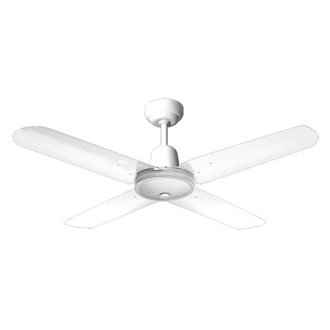 Can You Hang A Ceiling Fan From A Plastic Box by Hpm 1200mm White Hang Sure 4 Blade Ceiling Fan Bunnings