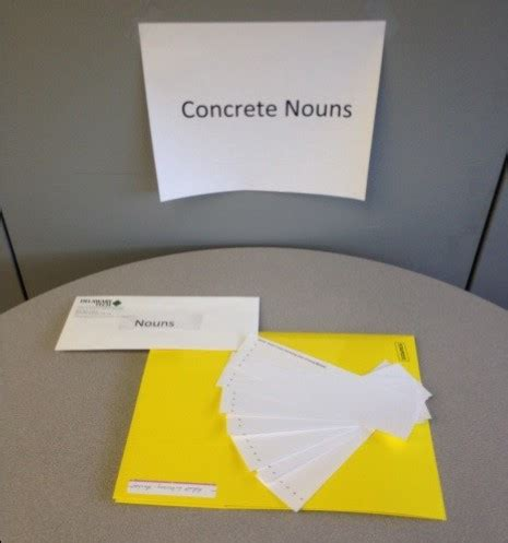 is room a concrete noun students to work collaboratively station