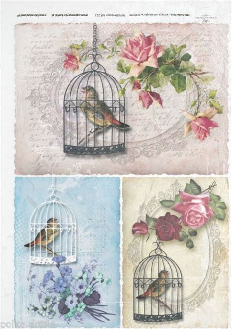 Rice Paper For Decoupage - rice paper decoupage decopatch sheet vintage bird cages