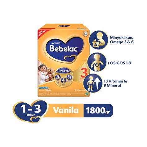 jual bebelac 3 vanila formula box 1800gr