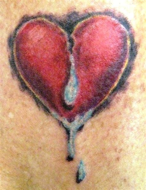3d broken heart with tears tattoo design tattoos book