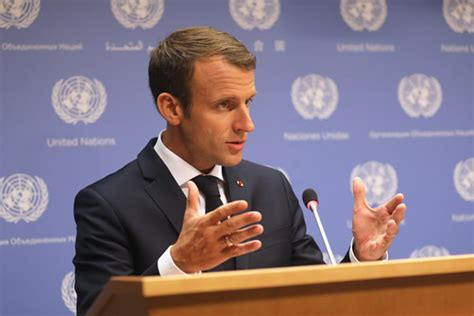 emmanuel macron unga unga france s macron defends iran climate deals punch