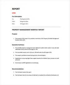 property management report template 32 monthly report templates in pdf free premium templates