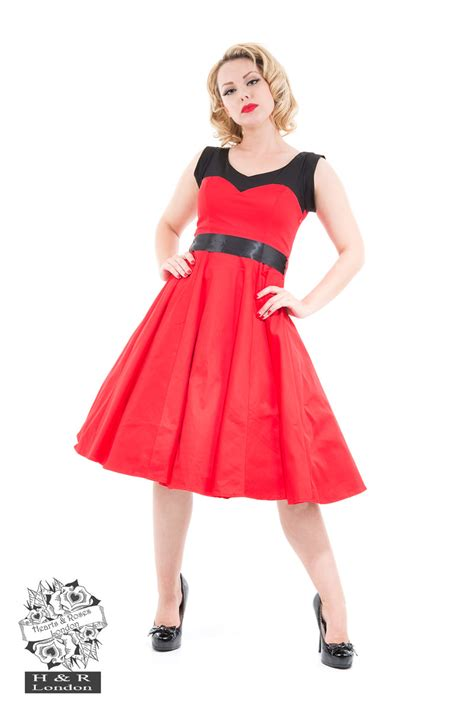 rotes swing kleid cos shop rizzo swing kleid