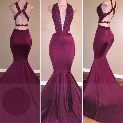 prom dresses on pinterest lace gowns prom and sequin dress low cut neckline mermaid prom dress with strappy prom