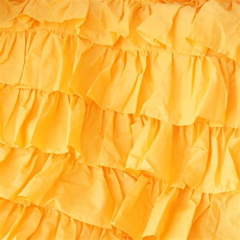 yellow ruffle comforter yellow waterfall ruffle bedding set