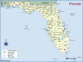 florida county outline wall map maps